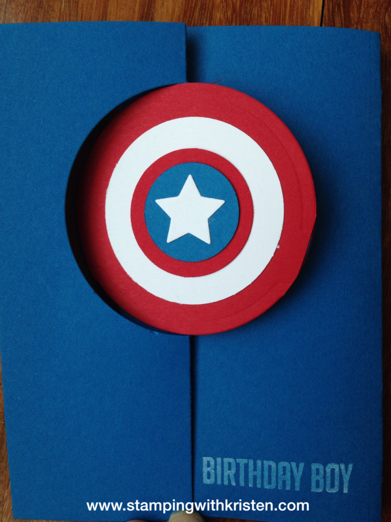 Captain America Card Stamping With Kristen