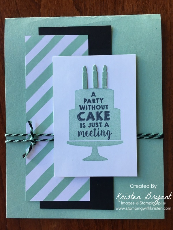 Mint Party Wishes www.stampingwithkristen.com