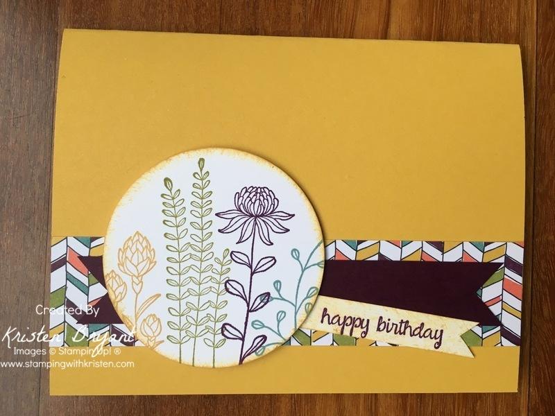 Flowering fields Birthday Card stampingwithkristen.com