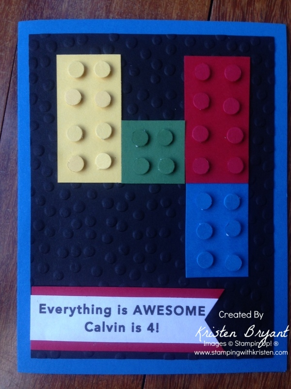 Lego Birthday Card Stamping With Kristen