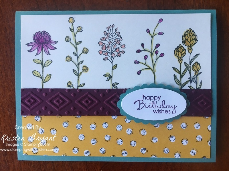 Flowering Fields www.stampingwithkristen.com