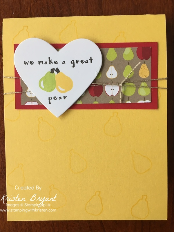 Www.stampingwithkristen.comPerfect Pear
