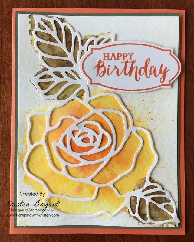 Rose Garden Brusho stampingwithkristen.com