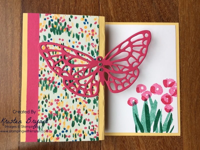 Butterfly Fold www.stampingwithkristen.com