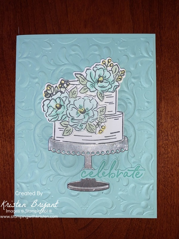 Celebrate With Cake www.stampingwithkristen.com