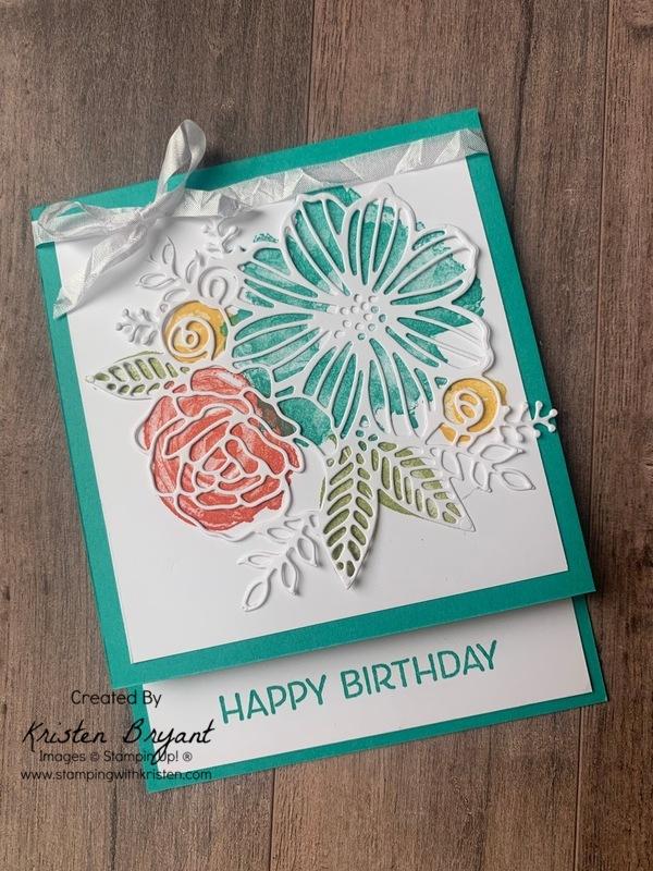 Artistically Inked Birthday Card www.stampingwithkristen.com